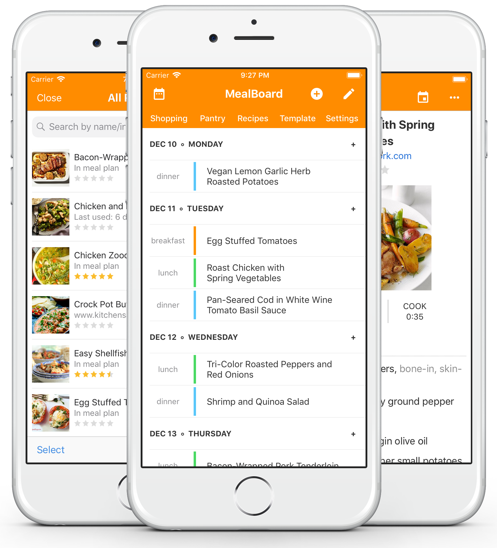 Mealboard mealboard combines recipe management meal planning groceries and pantry management into a single app it is fully customizable forumfinder Images